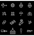 line logistic icon set vector image