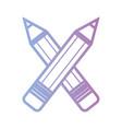line pencils school tool object design vector image