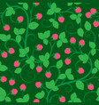 seamless pattern with raspberry vector image