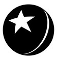 glossy star ball icon simple black style vector image
