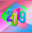 2019 colorful numbers papers vector image vector image