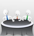 3d business men-meeting vector image vector image