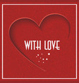 abstract background with red heart valentines day vector image vector image