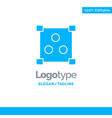 abstract design online blue solid logo template vector image vector image