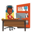 african-american man playing computer game vector image vector image