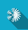 air conditioner icon isolated with long shadow vector image