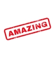 Amazing Text Rubber Stamp vector image vector image