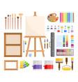 art tools vector image