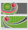 banners for cricket game vector image vector image