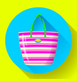 beach bag icon flat isolated on white background vector image