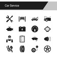 car service icons design for presentation graphic vector image vector image