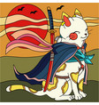 cat ninja vector image