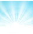 center sunburst light effect on soft clean blue vector image vector image