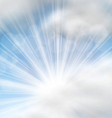 Cloudscape Background with Sun Rays vector image vector image