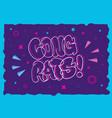 congratulation congrats greeting card flyer poster vector image