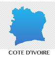 cote divoire map in africa continent design vector image