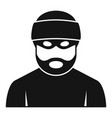 criminal man icon simple style vector image