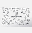 deep learning machine learning and artificial vector image