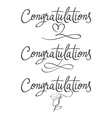 Design a set of labels Congratulations vector image vector image