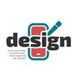 design flat icon vector image vector image