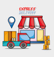 express delivery service business shipping vector image