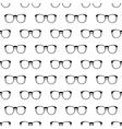 Eyeglasses pattern seamless vector image vector image