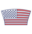 flag united states of america geometric design vector image vector image