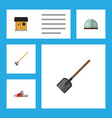 flat icon garden set of hothouse tool shovel and vector image vector image