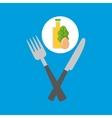 food fresh egg lettuce juice vector image
