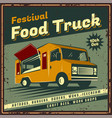 food track poster vector image