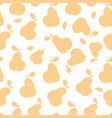 fruit silhouette seamless pattern pear ornamental vector image vector image
