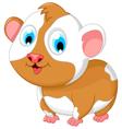 funny fat hamster cartoon posing vector image vector image