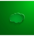 Green eco glossy glass cloud icon vector image vector image