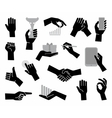 Hands Flat business symbol vector image vector image