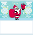 Happy New year card with Santa vector image vector image