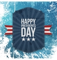 Happy Presidents Day big realistic Card Template vector image