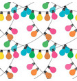 holidqays lights festive decorations set vector image vector image