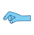 human hand holding something vector image vector image