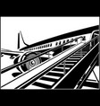 jet airliner waiting for passengers vector image