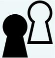 Keyhole symbol vector image