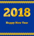 knit new year greeting card vector image