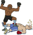knockout victory vector image vector image