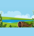 landscape background design with river and green vector image vector image