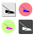 lawn mower flat icon vector image