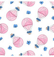 love balloon valentines day seamless pattern vector image vector image