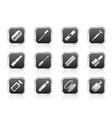 make-up icon set vector image vector image
