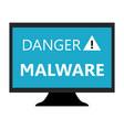 malware icon vector image