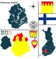 map of pirkanmaa finland vector image vector image