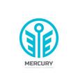 mercury - logo template concept vector image