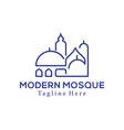 modern mosque islamic center logo and icon design vector image